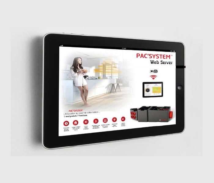 pacsystem accessible depuis une application mobile