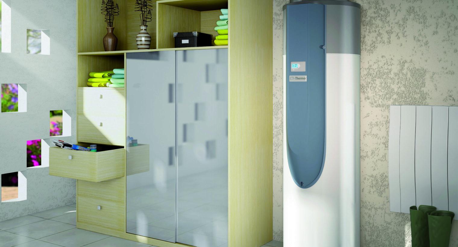 Ballon thermodynamique pour des économies sur votre facture d'eau chaude