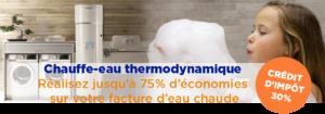 Réalisez jusqu'à 75 % d'économies sur votre facture d'eau chaude