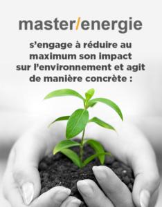 Engagement à réduire son impact environnementale